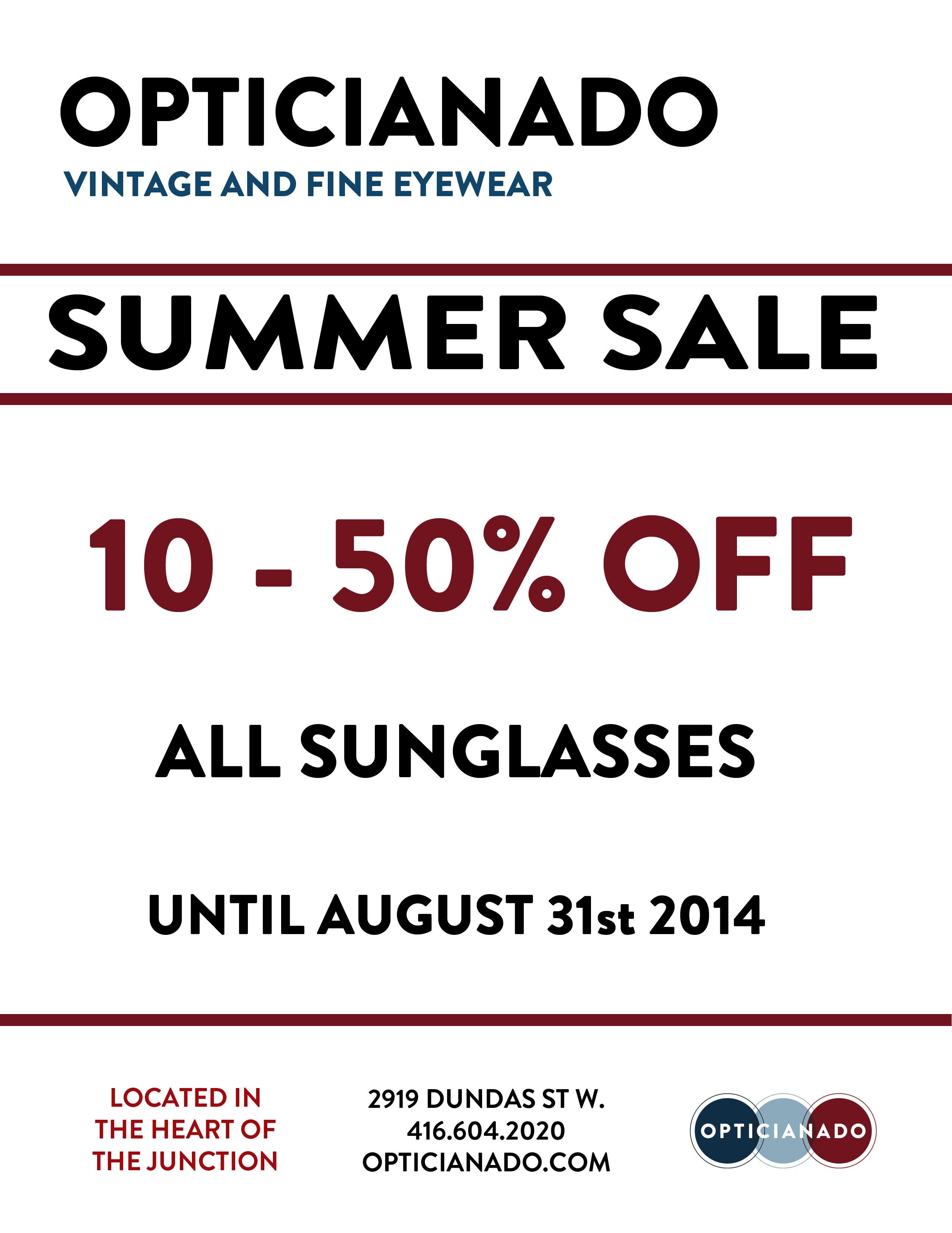 summer sunglass sale